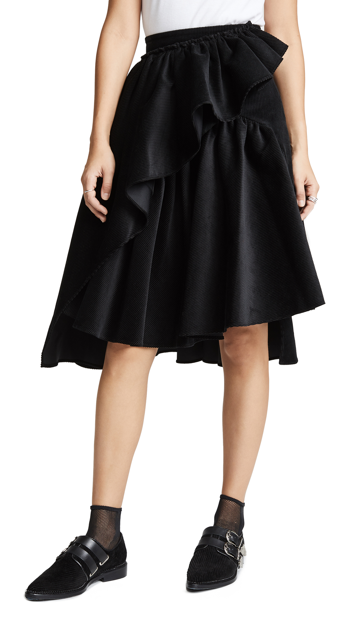 RUFFLE VOLUME SKIRT