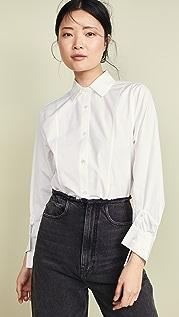 SHUSHU/TONG 扭褶裹身衬衫
