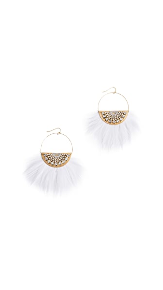 Sandy Hyun Jessica Earrings In Gold/Crystal