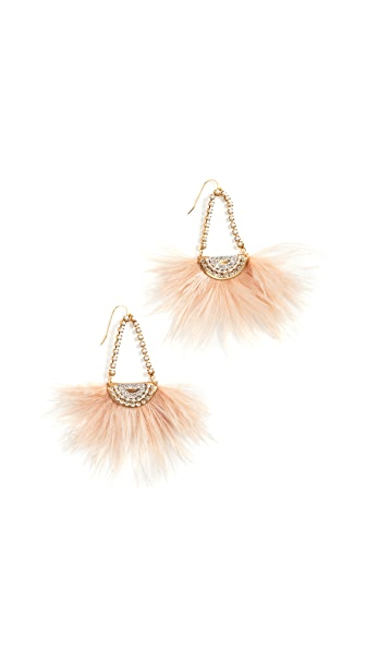 Sandy Hyun Holly Earrings In Crystal/Pink