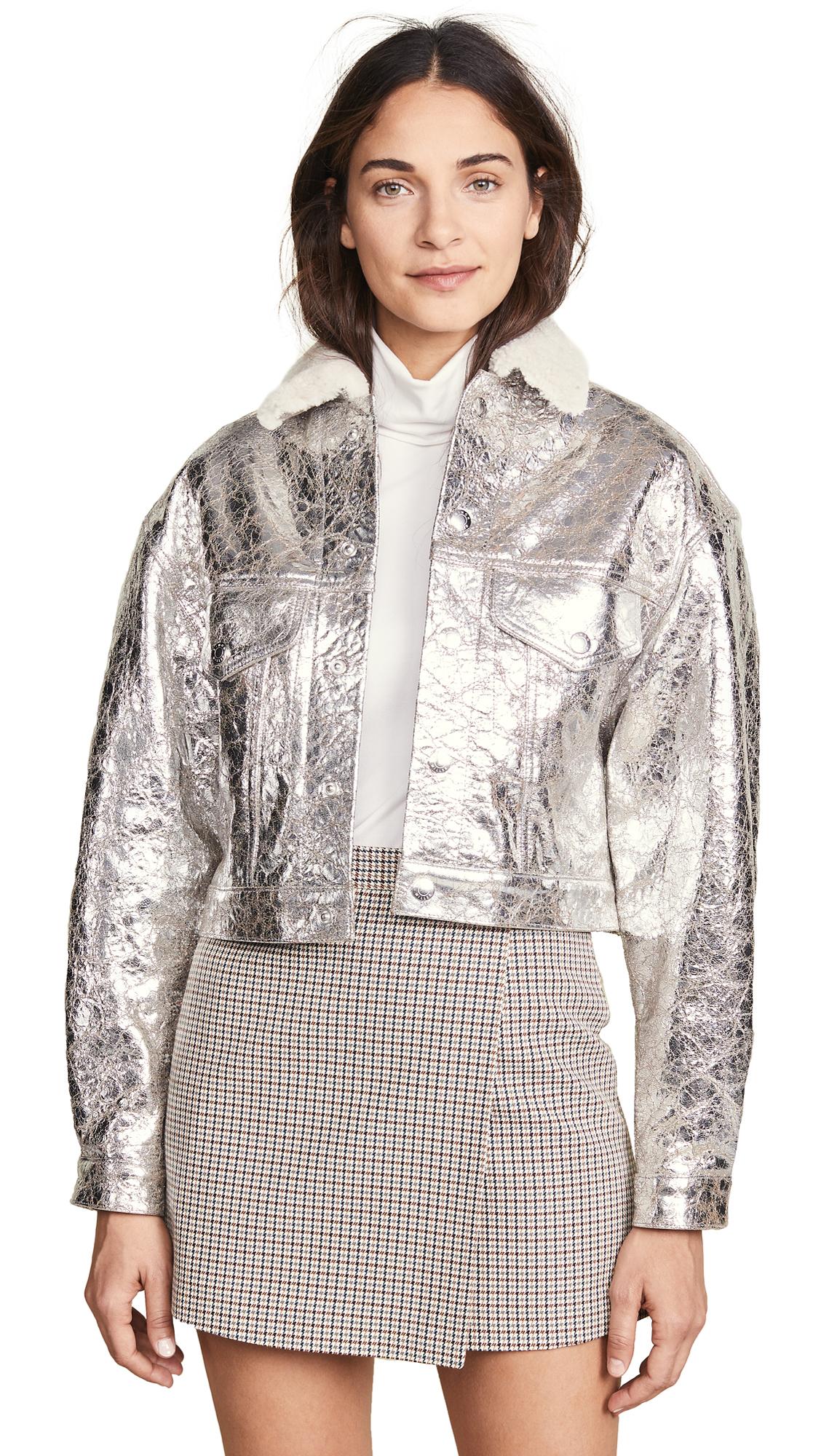 Simon Miller Morgo Jacket In Silver