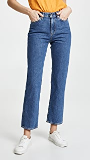 Simon Miller High Rise Straight Crop Jeans