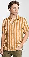 Simon Miller Short Sleeve Striped Shirt