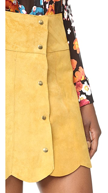 Stoned Immaculate Marsha Suede Petal Skirt