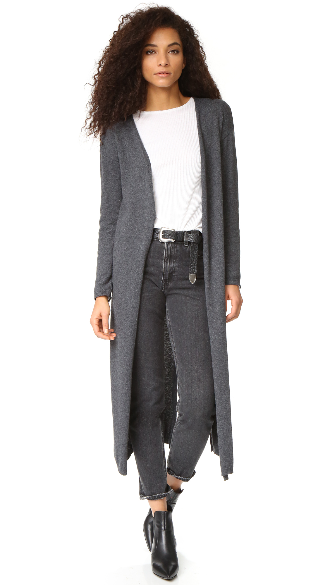 sincerely jules female sincerely jules juliet long cardigan grey