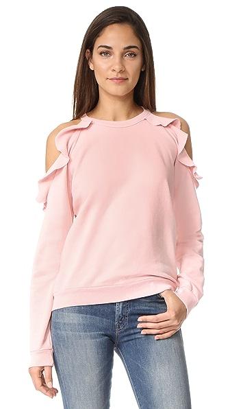 Sincerely Jules Ruffle Shoulder Sweatshirt