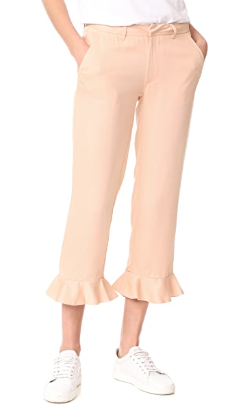 Sincerely Jules Ruffle Trousers - Rose
