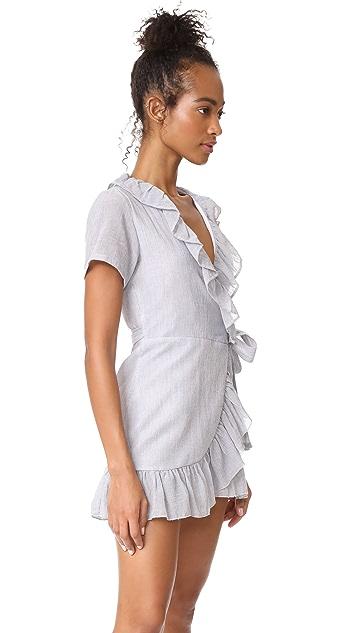 Sincerely Jules Striped Gauze Ruffle Dress