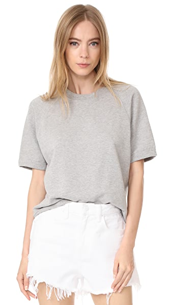 Sincerely Jules Cara Short Sleeve Sweatshirt - Grey