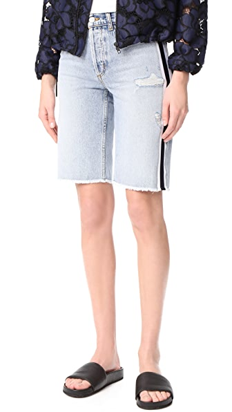 Siwy Memphis Relaxed Denim Bermuda Shorts In Smoky Factory Blues