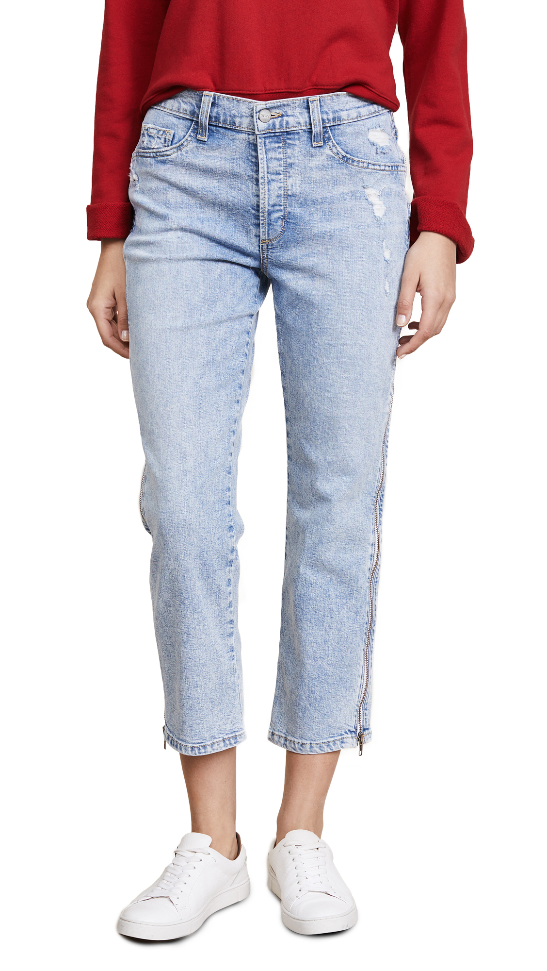 Siwy Cheryl Retro Cropped Jeans with Side Zip In In Too Deep