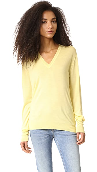 6397 Perfect V Neck Sweater - Yellow