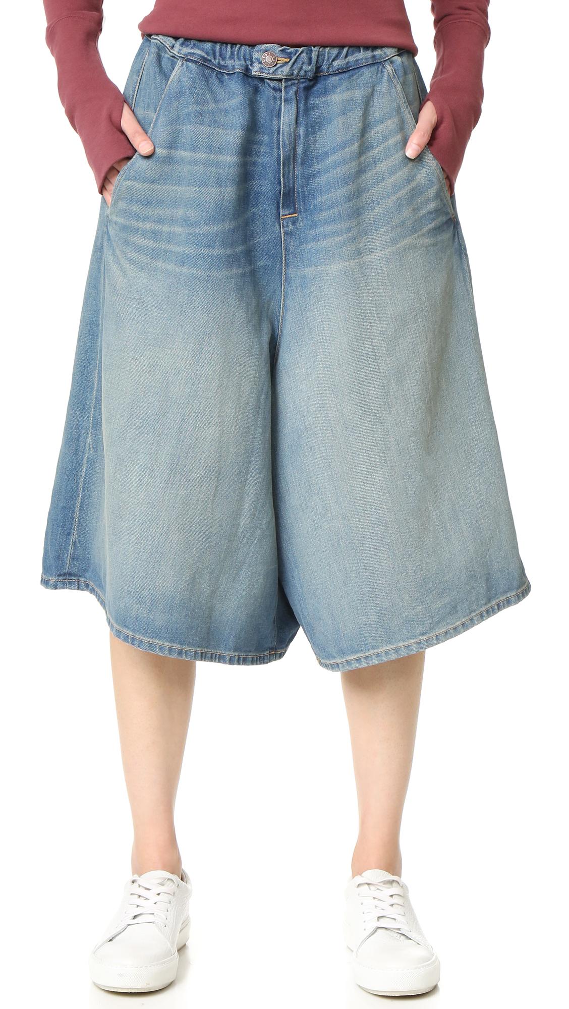6397 female 6397 denim shorts worker wash