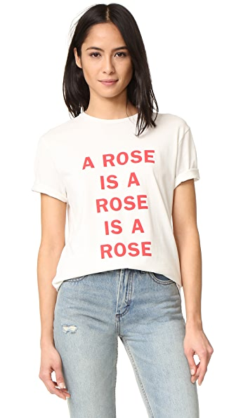 6397 A Rose Is Tee In White