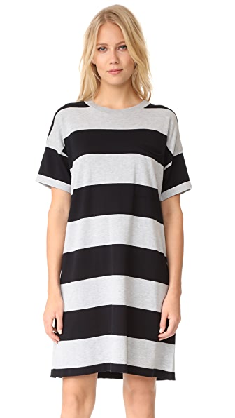 6397 Rugby Dress - Navy/Grey Stripe