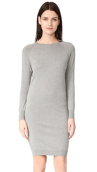 6397 Pointelle Dress In Heather Grey