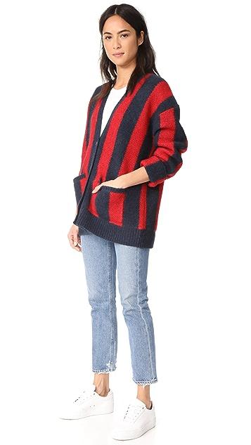 6397 Striped Kurt Cardigan