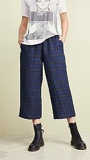 6397 Широкие укороченные брюки без застежки