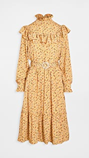 Sister Jane Prickly Pear Belted Midi Dress