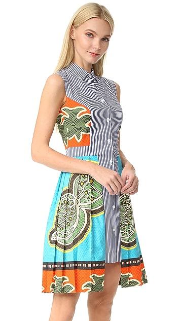 Stella Jean Sleeveless Striped Dress