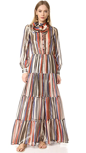 Stella Jean Long Sleeve Dress - Multi