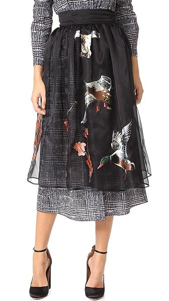 Stella Jean Midi Skirt - Black