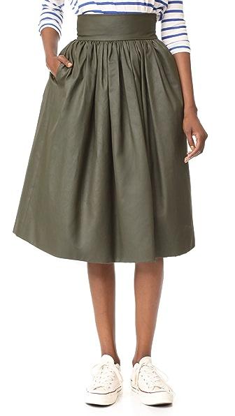 Stella Jean Midi Skirt - Green