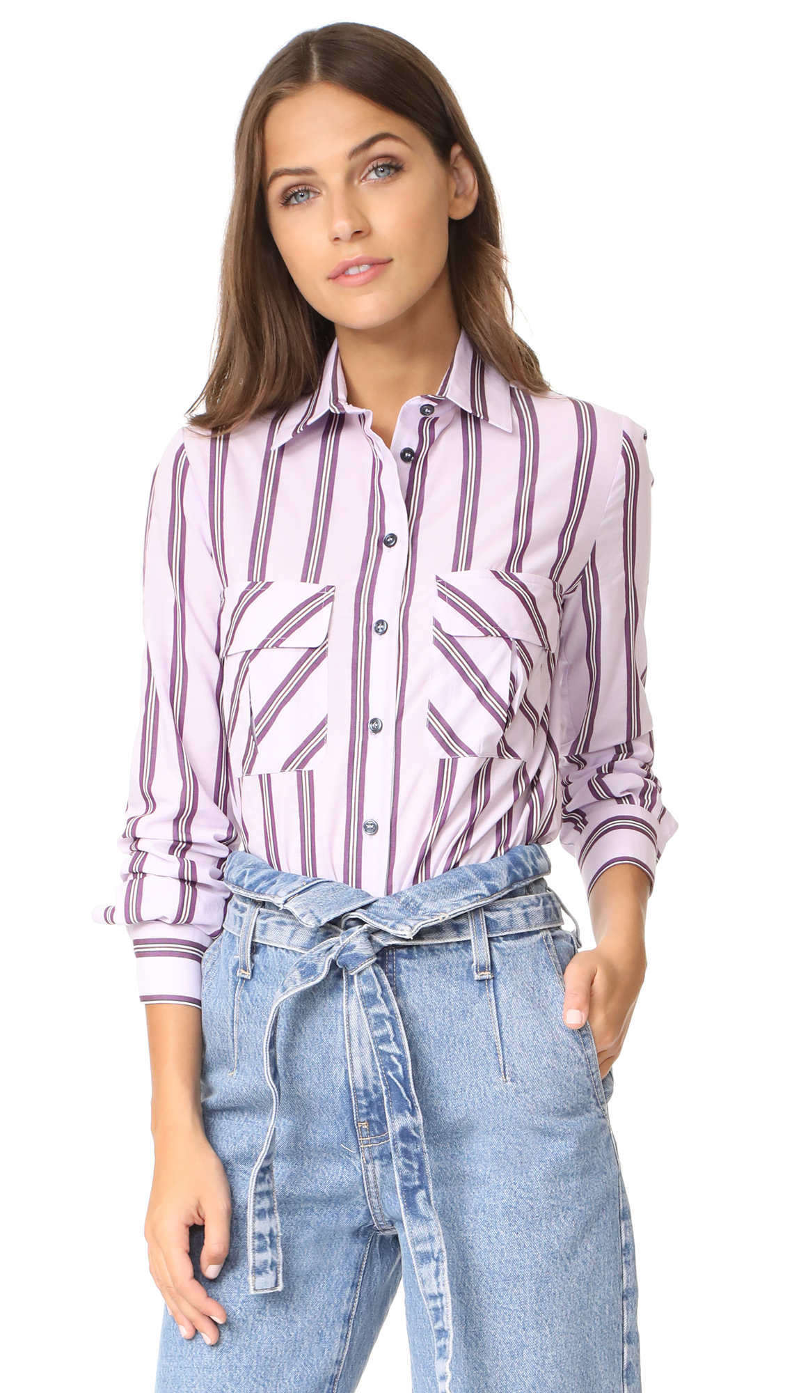 Stella Jean Long Sleeve Shirt - Pink Stripe