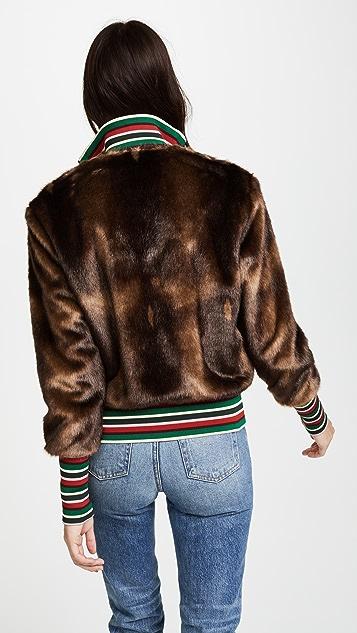 Stella Jean Faux Fur Jacket