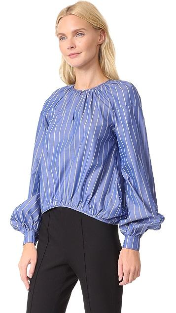 Stella Jean Striped Long Sleeve Blouse
