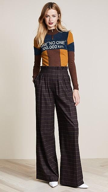 Stella Jean Intarsia Mock Neck Sweater