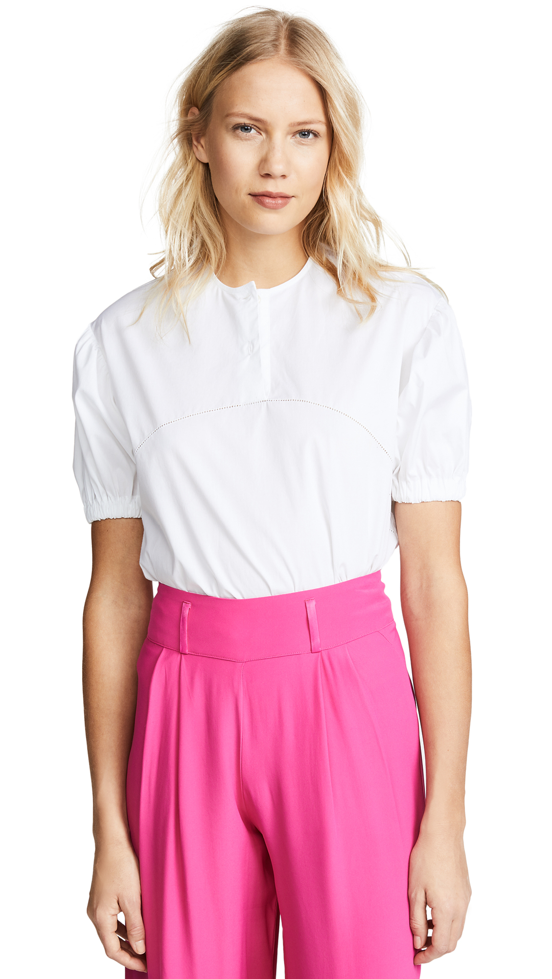 Stella Jean Short Sleeve Blouse - White