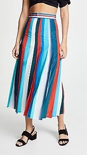 Stella Jean 垂直条纹中长半身裙