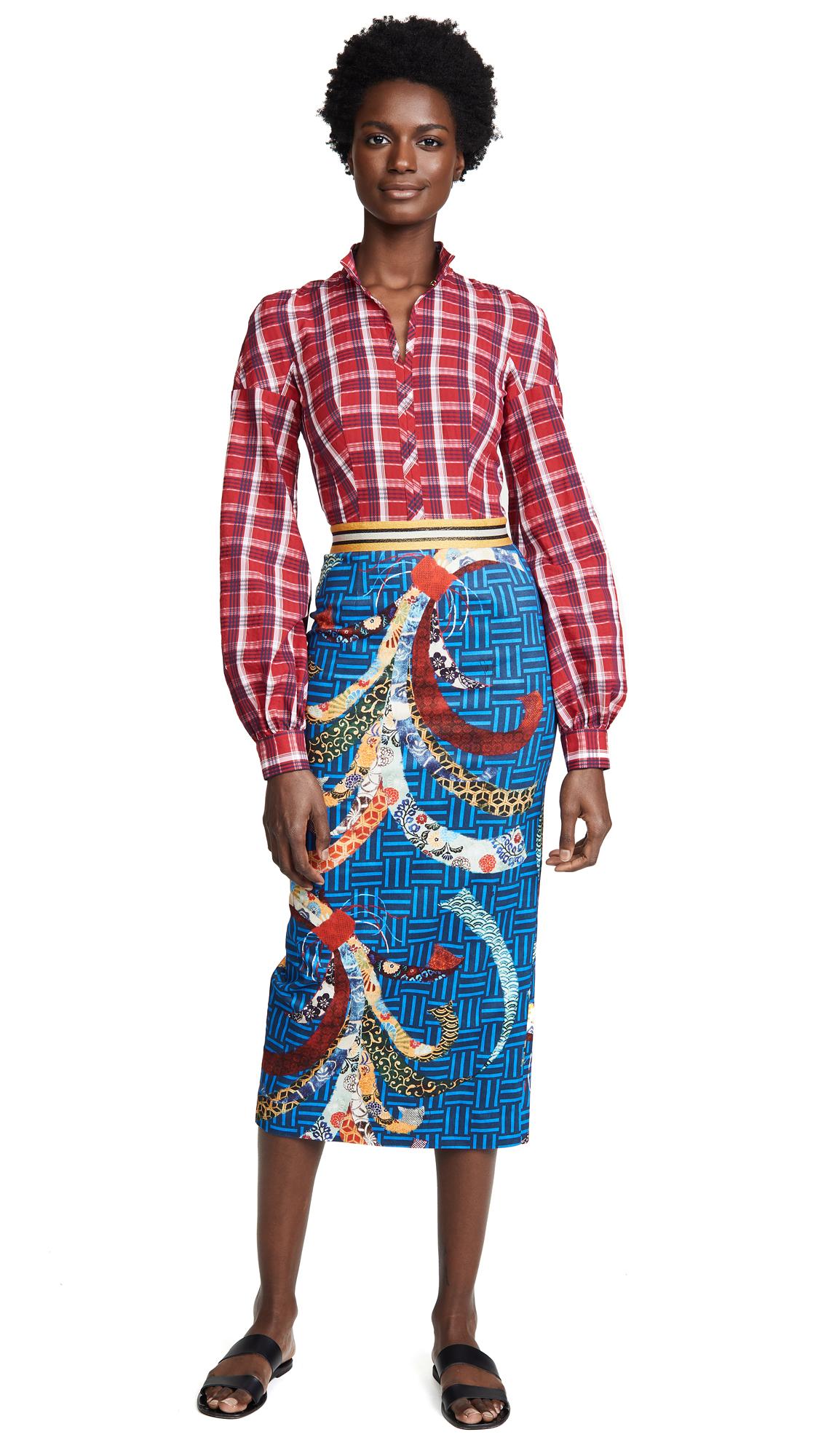 COMBO PLAID DRESS
