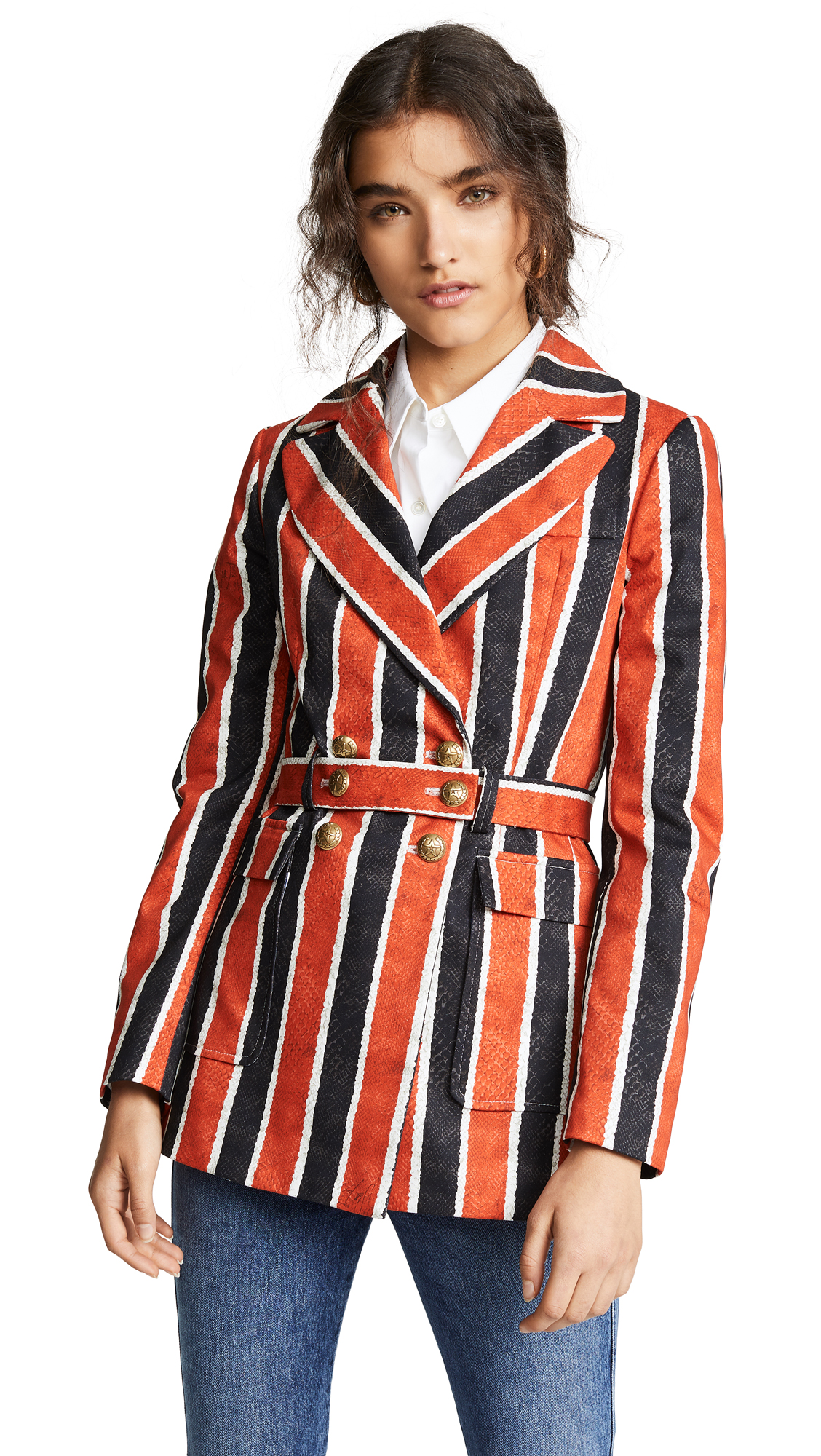 Stella Jean Striped Blazer