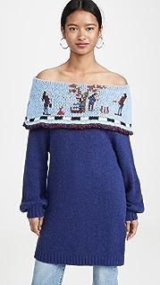 Stella Jean 露肩式刺绣针织