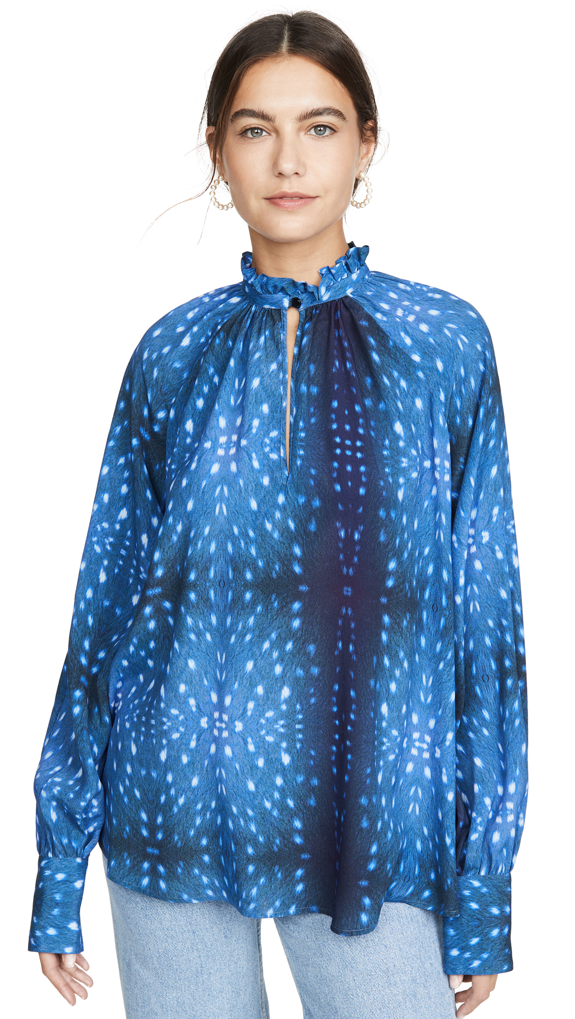 Buy Stella Jean online - photo of Stella Jean High Neck Blouse