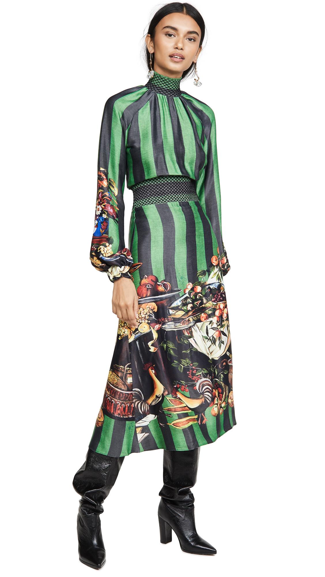 Stella Jean Striped Turtleneck Dress - 40% Off Sale