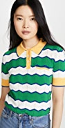 Stella Jean Striped Polo