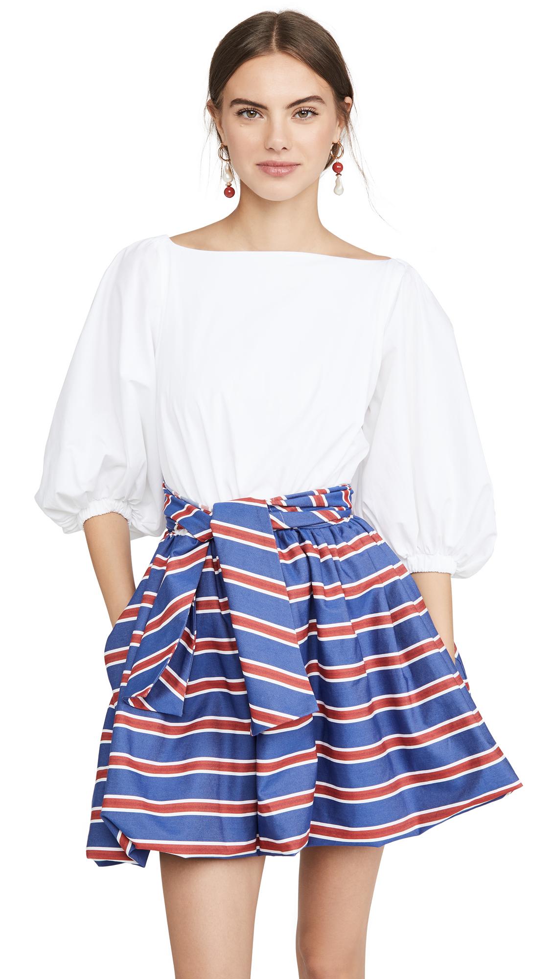 Stella Jean Mini Dress With Striped Skirt - 30% Off Sale