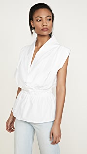 Stella Jean V 领无袖女式衬衫