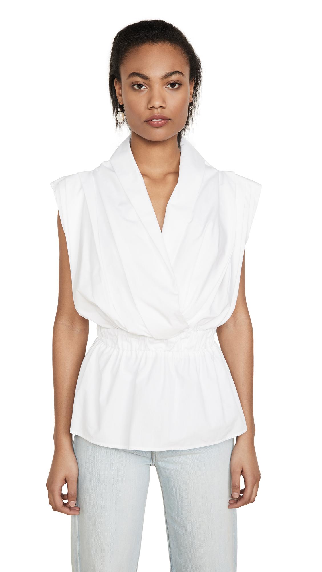 Stella Jean V Neck Sleeveless Blouse - 30% Off Sale