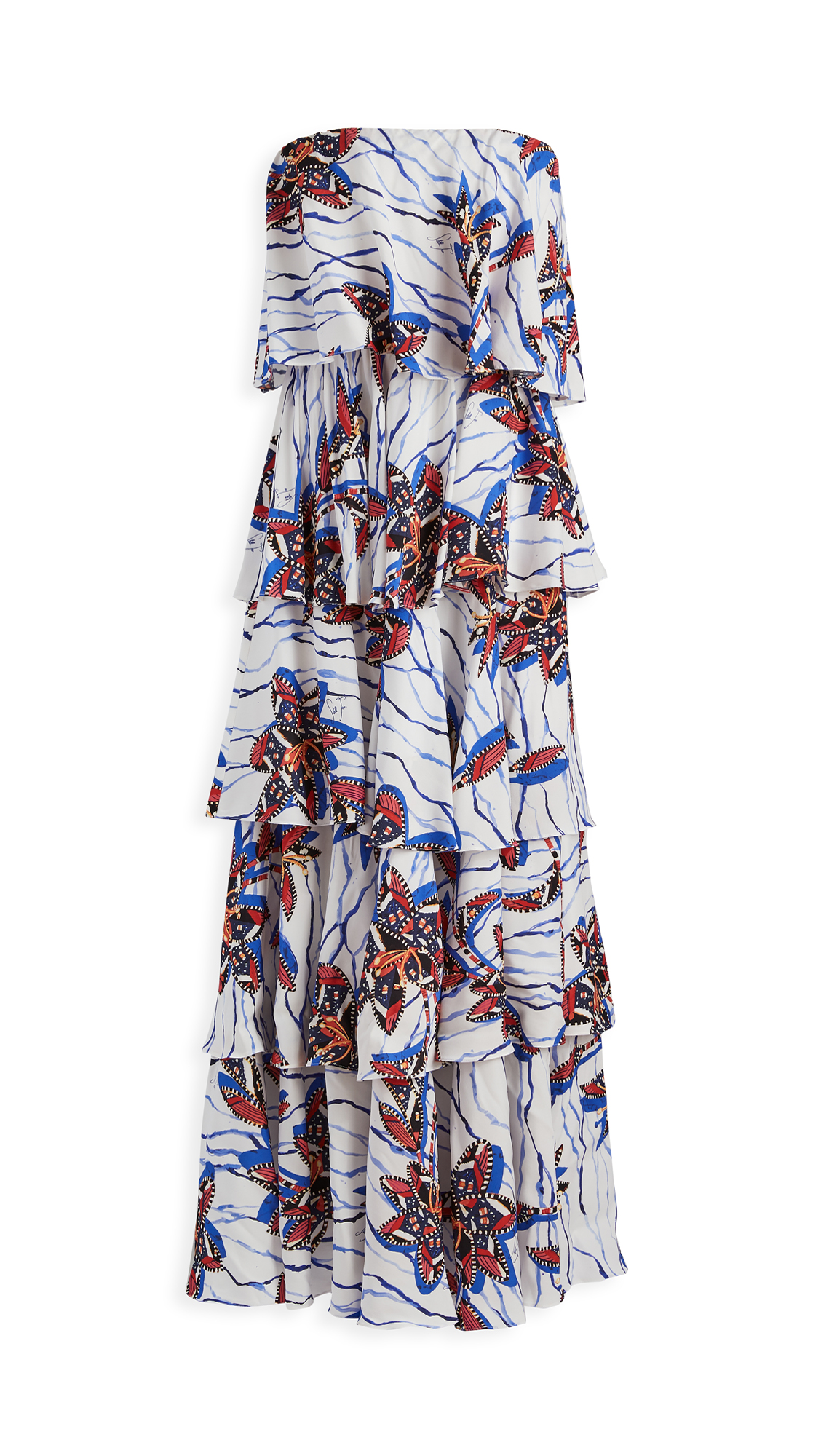 Photo of Stella Jean Tiered Ruffled Maxi - shop Stella Jean Clothing, Dresses online