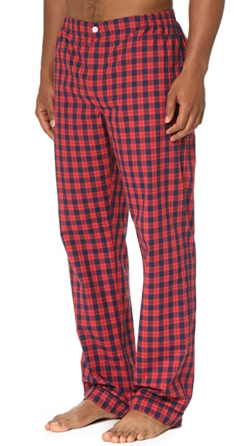 Sleepy Jones Marcel Washed Plaid Pajama Pants