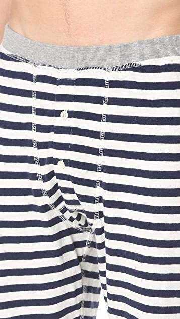 Sleepy Jones Keith Rugby Stripe Long Johns