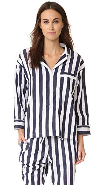 Sleepy Jones Tent Stripe Marina Pajama Shirt