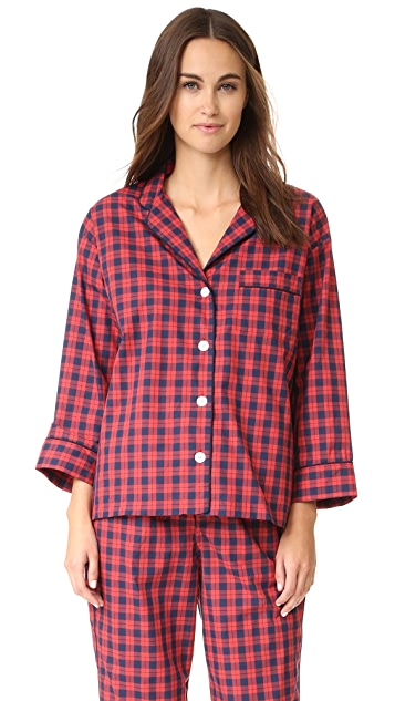 Sleepy Jones Washed Plaid Marina Pajama Shirt