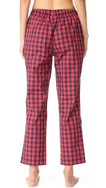 Sleepy Jones Washed Plaid Marina Pajama Pants