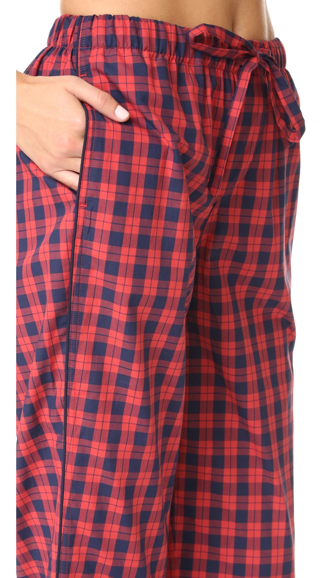 Пижамные брюки Marina из вареной ткани в клетку Sleepy Jones  (SJONE3009127401112)