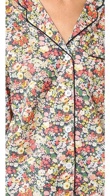 Sleepy Jones Liberty Marina Pajama Shirt